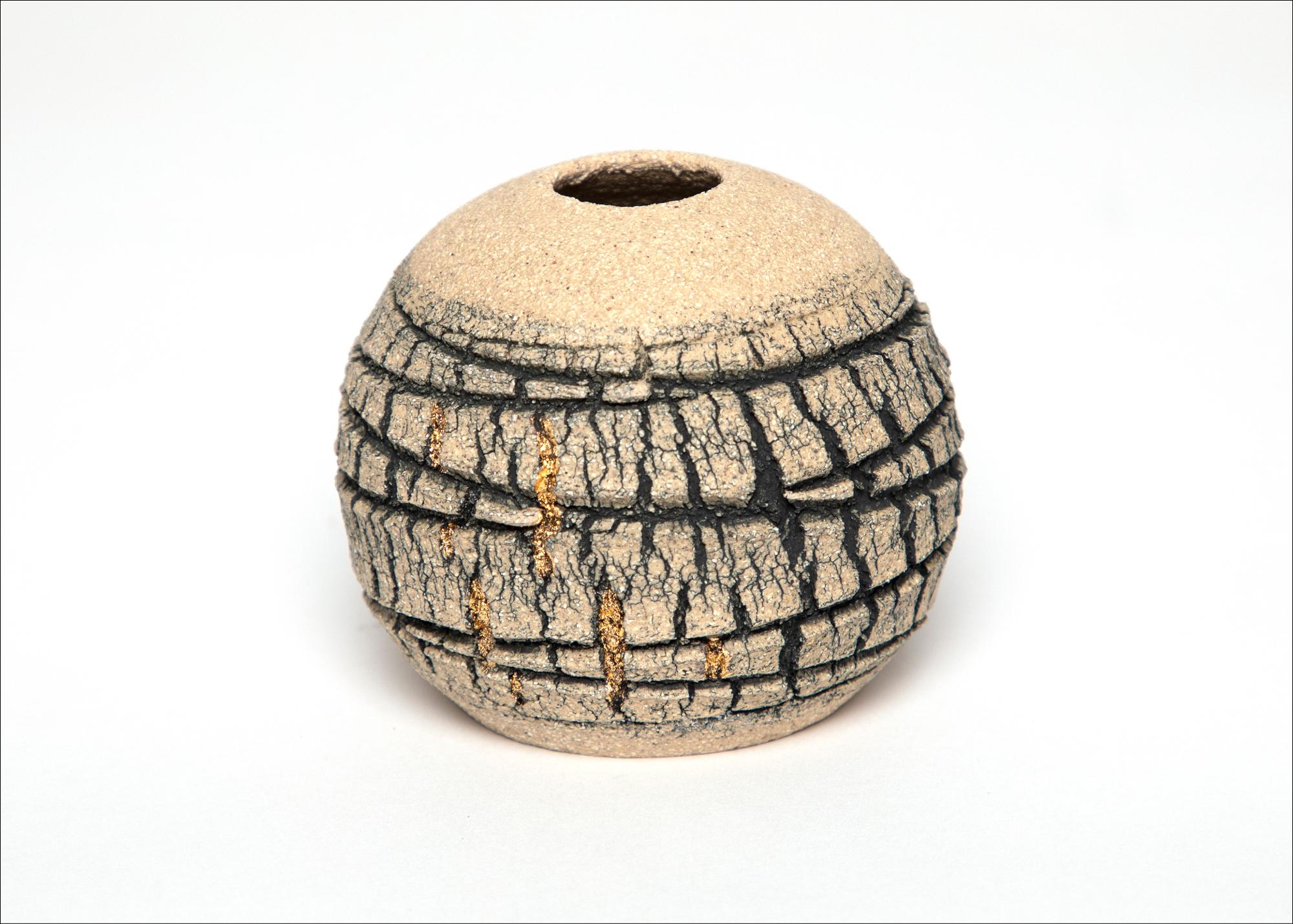 Emmeline Butler Veined Limestone Orb with Lustre 1