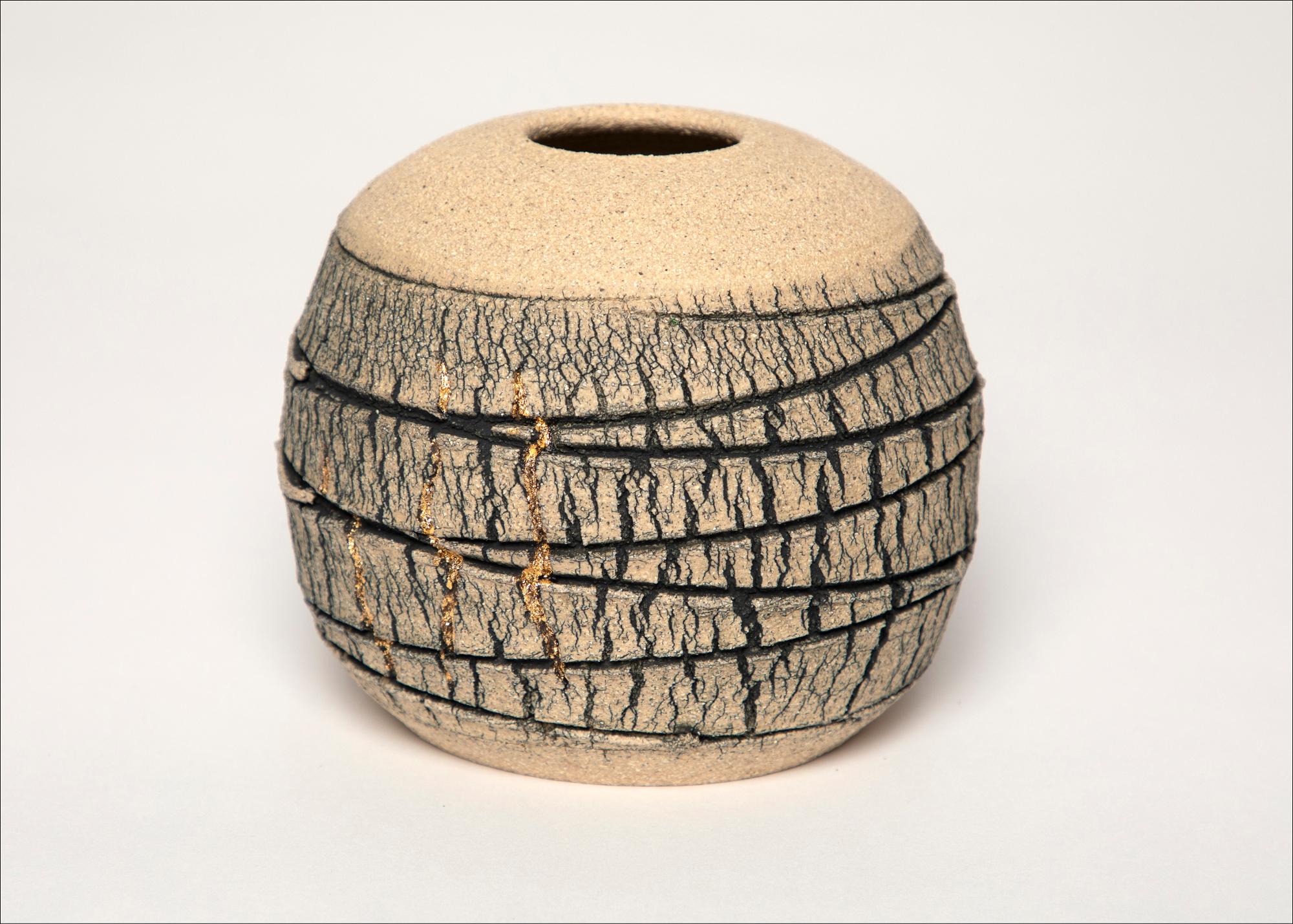 Emmeline Butler Veined Limestone Orb with Lustre 3