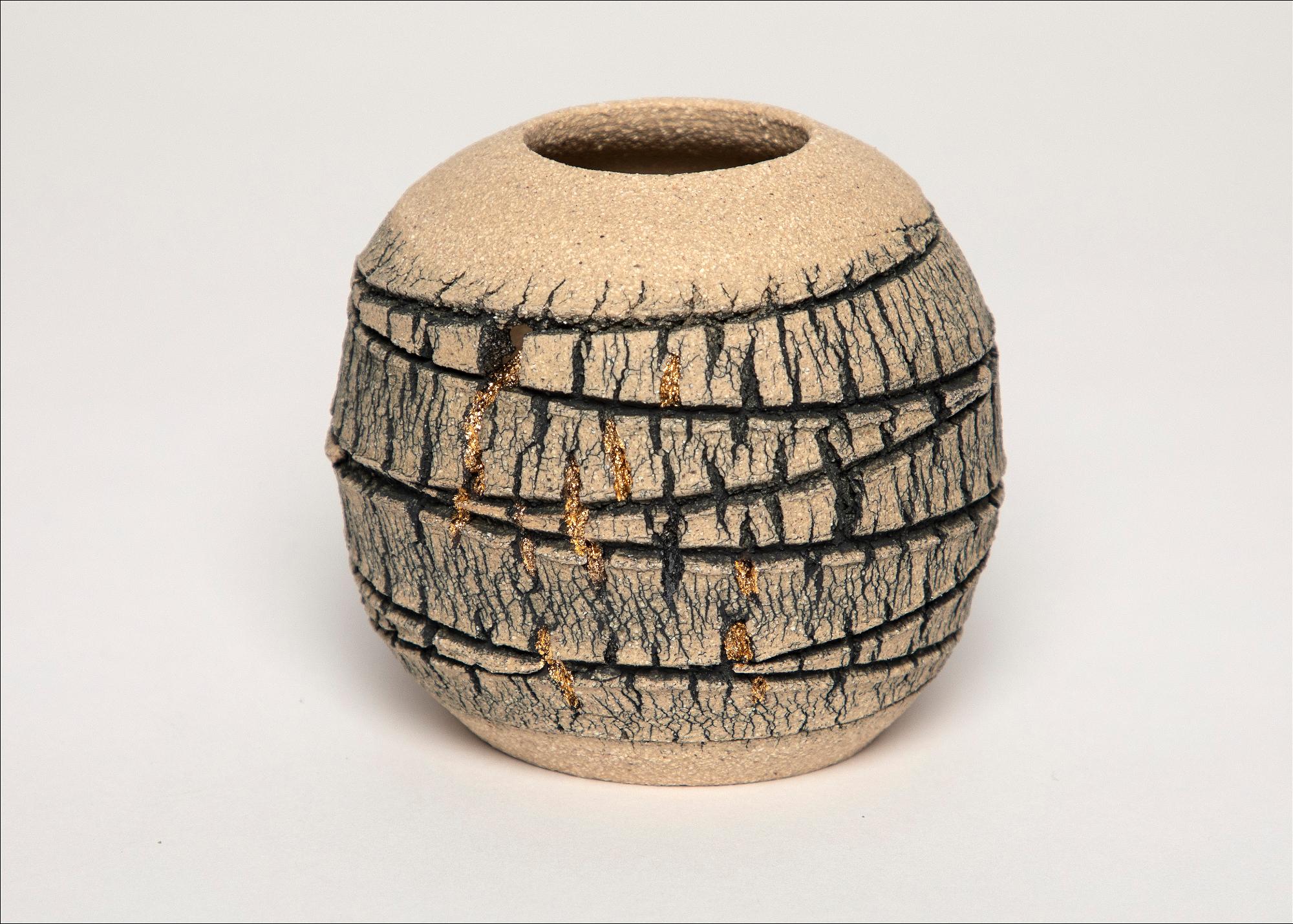 Emmeline Butler Veined Limestone Orb with Lustre 6