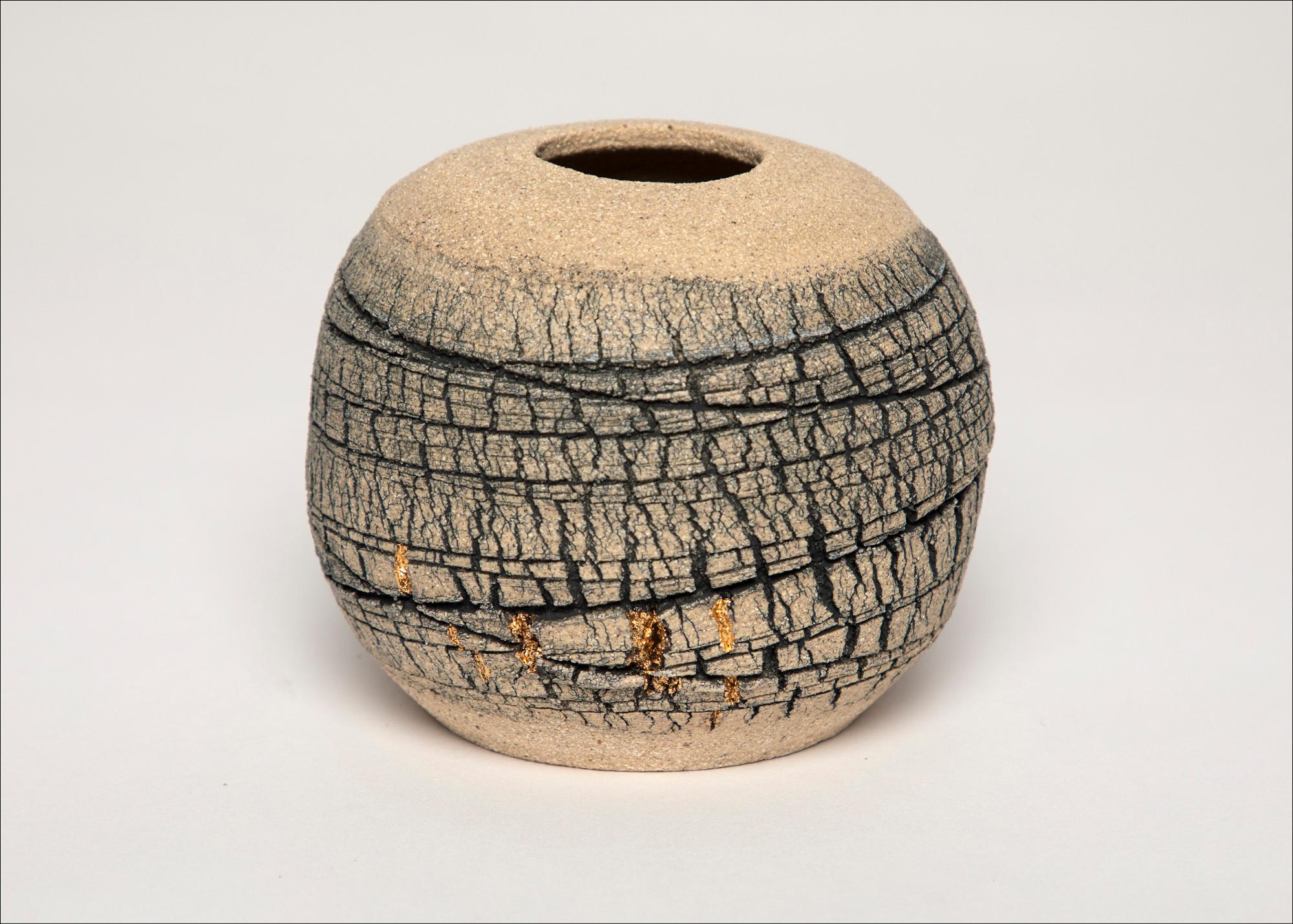 Emmeline Butler Veined Limestone Orb with Lustre 7