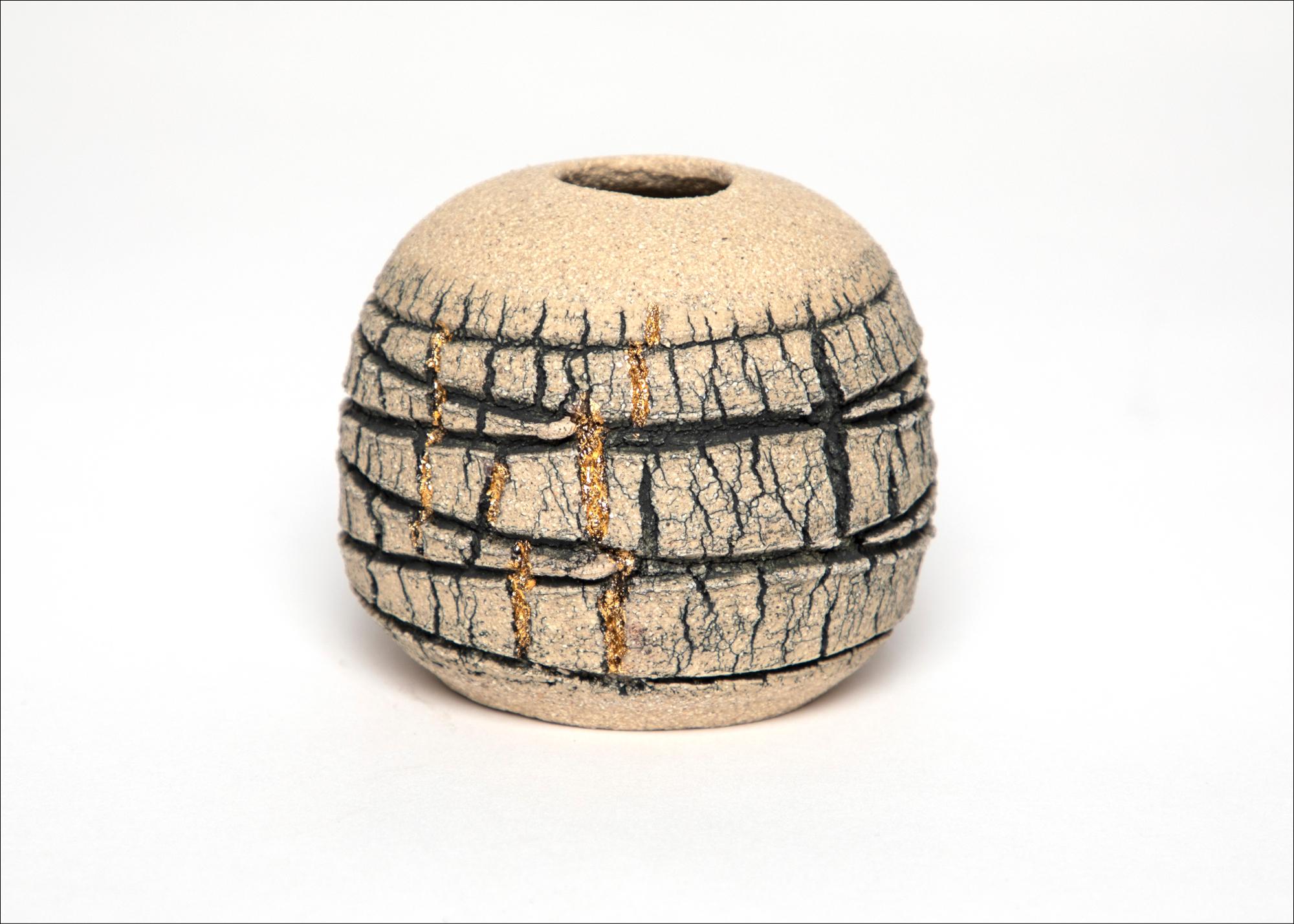 Emmeline Butler Veined Limestone Orb with Lustre 8